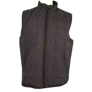 Jos. A. Bank Puffer Vest Brown Pocket Zip Lined XL